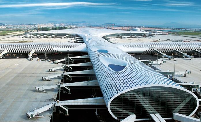 深圳机场T3航站楼幕墙钢结构